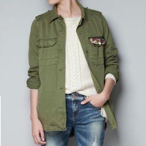 Zara Trafaluc Military Jacket